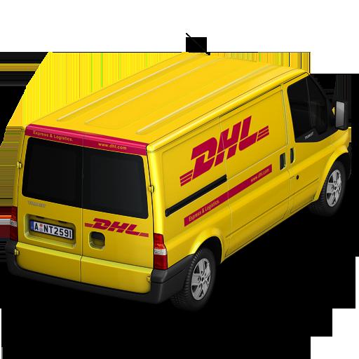 Dhl Van Back Icon Container Cargo Vans Iconset Antrepo