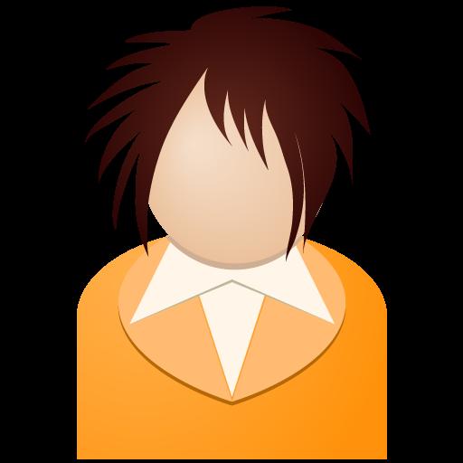 Orange Girl Icon People Iconset Dapino