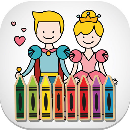 Fairy Tale Kids Toddler Coloring Book For Boy Girl