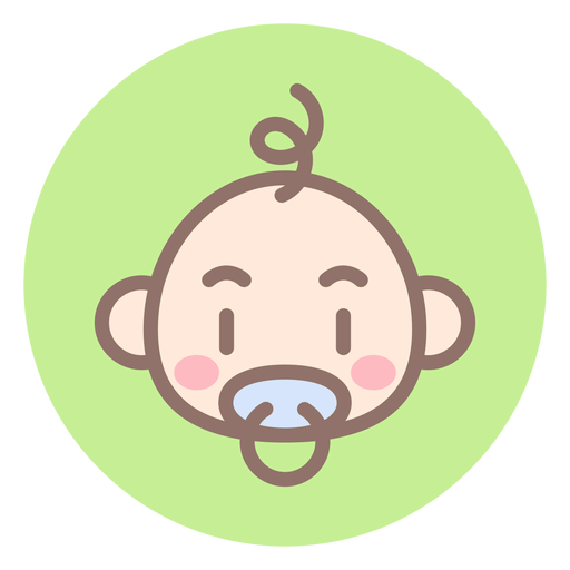 Baby Boy Head Circle Icon