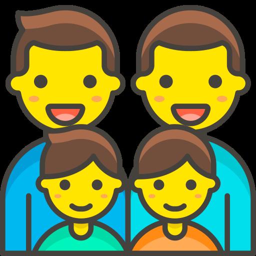Family, Man, Man, Boy, Boy Icon Free Of Free Vector Emoji