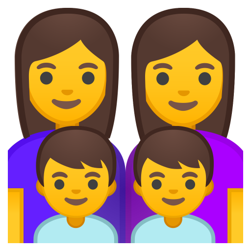 Family Woman Woman Boy Boy Icon Noto Emoji People Family Love