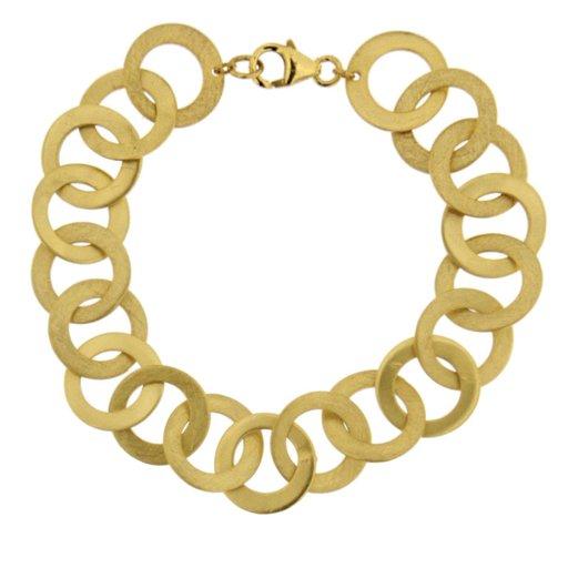 Brushed Sterling Silver And Gold Bracelet