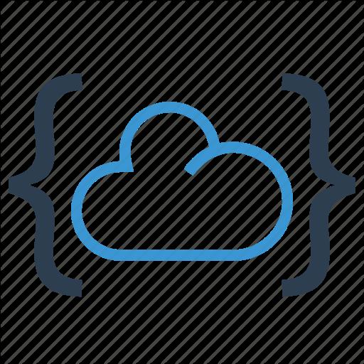 Brackets, Cloud, Data Storage, Sharing Icon