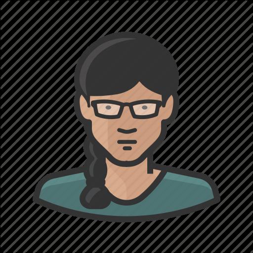 Asian, Avatar, Braid, Female, Glasses, Woman Icon