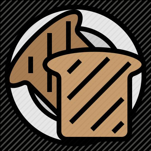 Bakery, Bread, Breakfast, Toast Icon