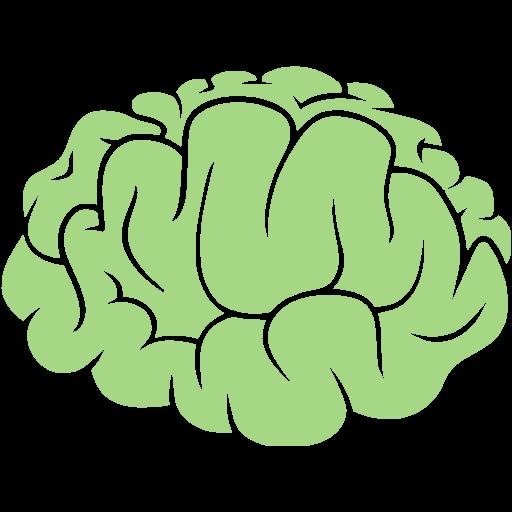 Guacamole Green Brain Icon