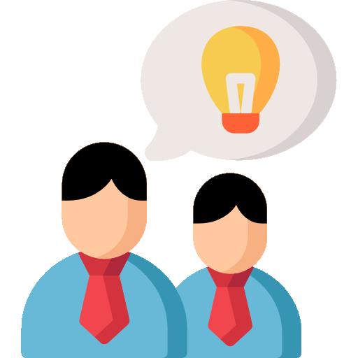 Brainstorm Icon Employees Set Freepik