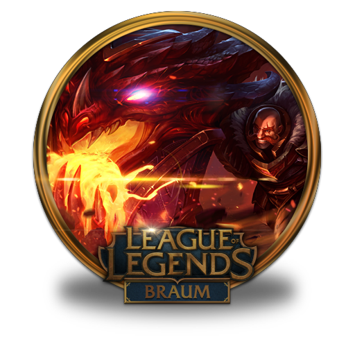 Braum Dragonslayer Icon League Of Legends Gold Border Iconset