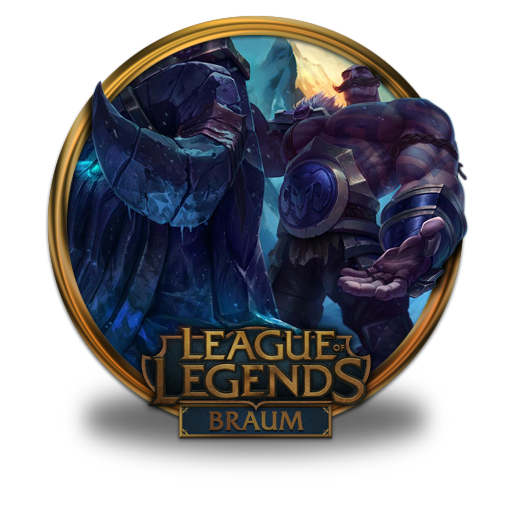 Braum Icon League Of Legends Gold Border Iconset