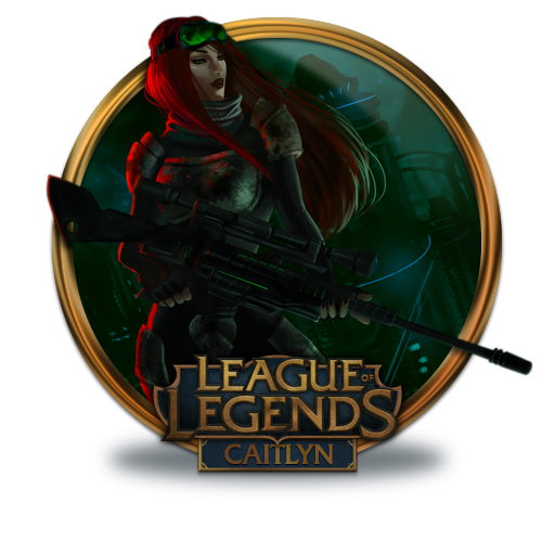Caitlyn Icon League Of Legends Gold Border Iconset
