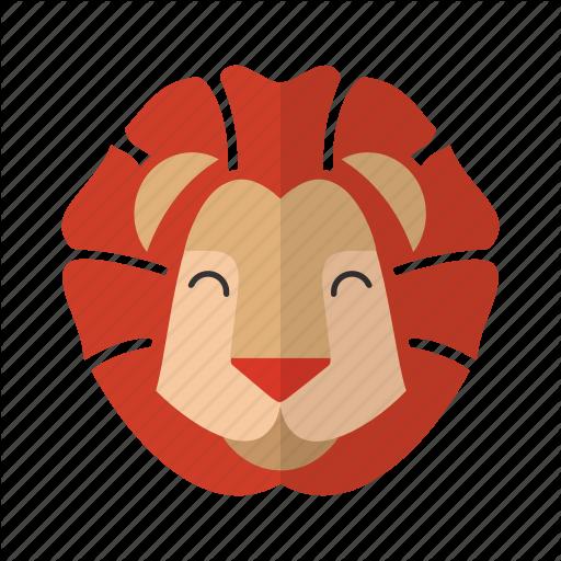 Animal, Brave, Cute, Fauna, Head, Lion, Mascot Icon