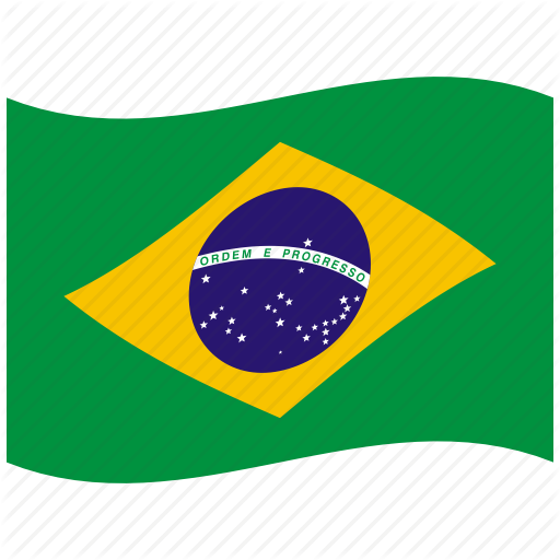 Br, Brazil, Brazilian Flag, Federal, Green, Republic, Waving Flag Icon