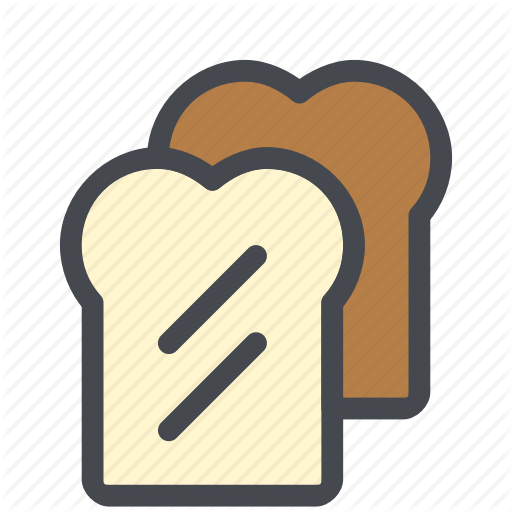 Bread, Food, Loaf, Slice Icon