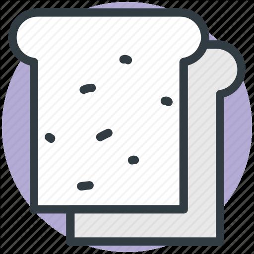 Bakery Food, Bread, Bread Slice, Breakfast, Toast Icon