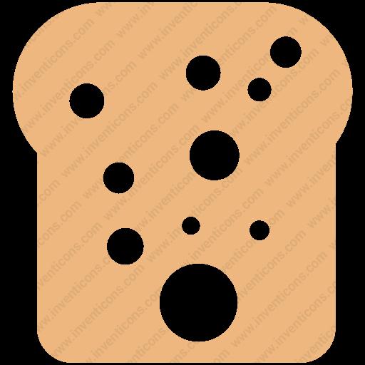 Download Bread Slice Icon Inventicons