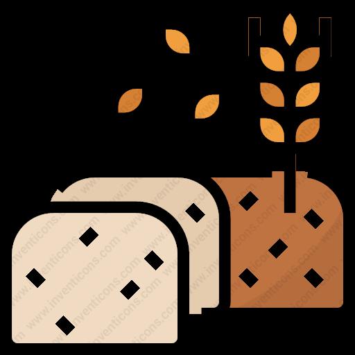 Download Wheat,bread,foodrestaurant,fooddrink,seed,food,slice Icon