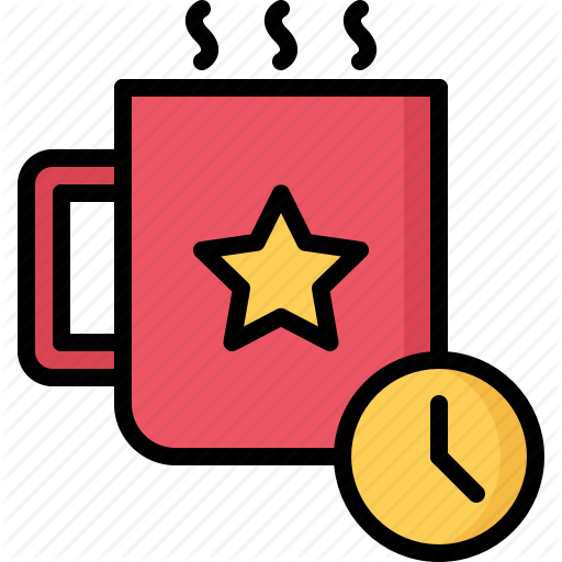 Break, Business, Clock, Coffee, Job, Office, Time Icon