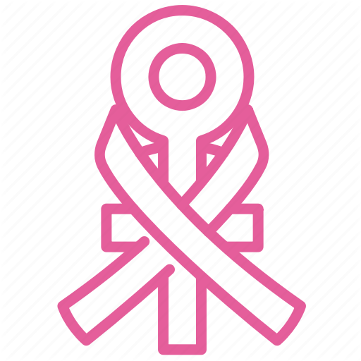 Breast, Cancer, Care, Health, Healthcare, Ribbon, Women Icon