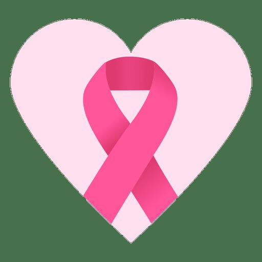 Breast Cancer Heart Ribbon