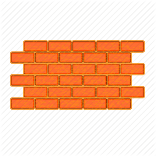 Brick, Brick Wall, Illustration, Machinery, Repairing, Sign, Wall Icon