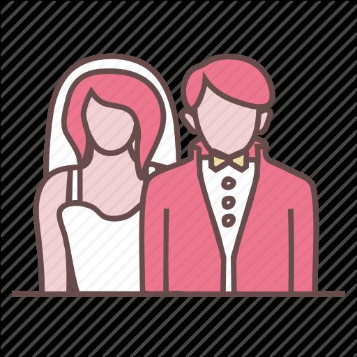 Bride, Celebration, Couple, Engagement, Groom, Marriage, Wedding Icon