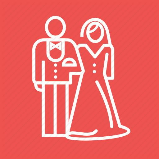 Bride, Couple, Dress, Groom, Happy, Marriage, Wedding Icon