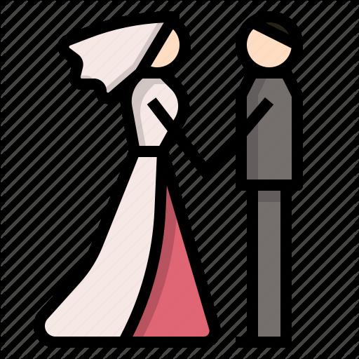Bride, Couple, Groom, Love, Married, Wedding Icon