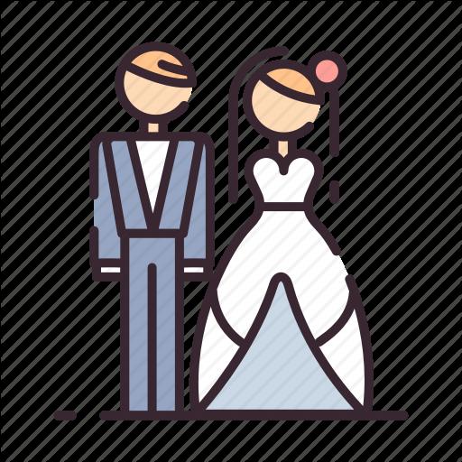 Bride, Groom, Love, Marriage, Marry, Romance, Wedding Icon