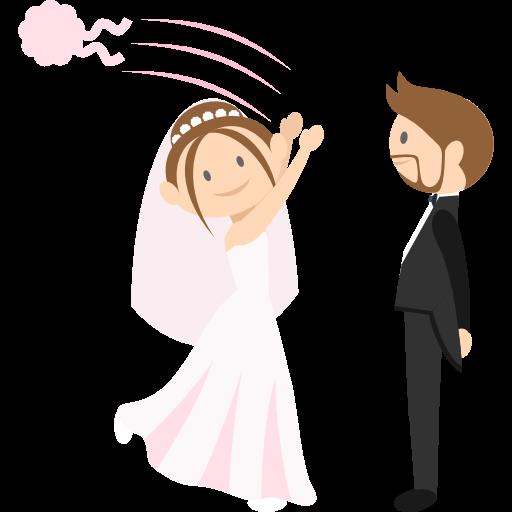 Wedding Couple, Bride, Groom, People, Romantic Icon