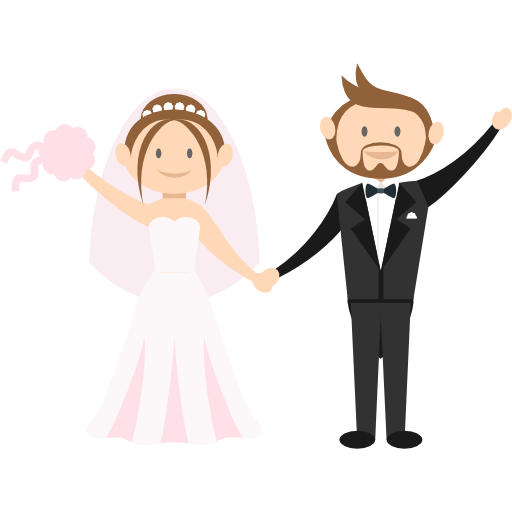 Groom, Romantic, People, Wedding Couple, Bride Icon