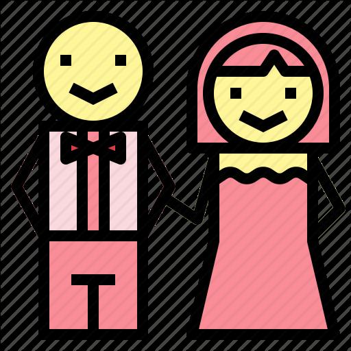 Bride, Couple, Groom, Love, Romantic, Wedding Icon