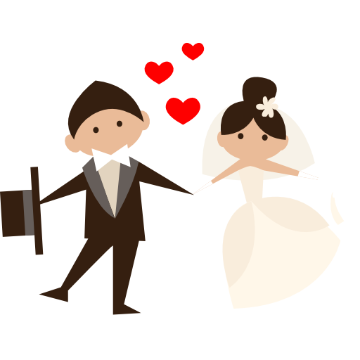 Honeymoon, Wedding Couple, Groom, Bride, People, Romantic Icon Png