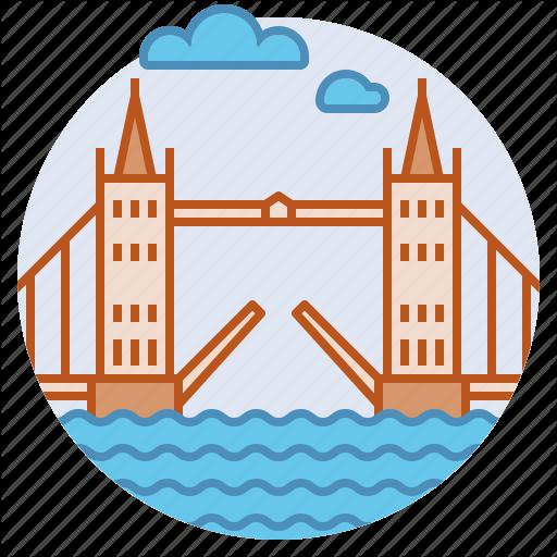 Building, Landmark, London, Thames, Tower Bridge Icon