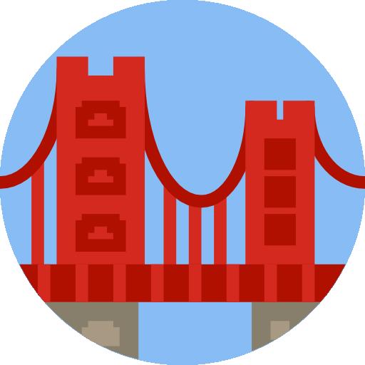Golden Gate Bridge Icon Monuments Smashicons