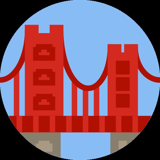 Golden Gate Bridge Monument Png Icon
