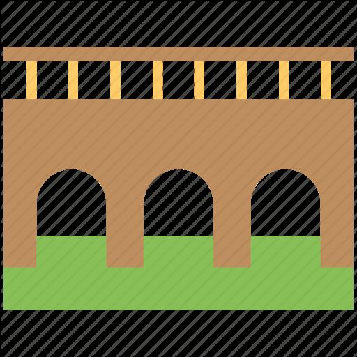Bridge, Bridge Column, Driving Bridge, Old Bridge, Traveling Icon