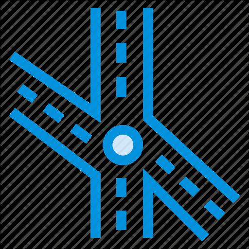 Bridge, Direction, Point, Road, Sign, Traffic, Vehicle Icon