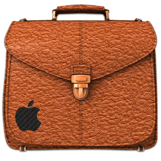 Briefcase Folder Rufous Icon