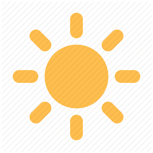 Brightness, Sun Icon