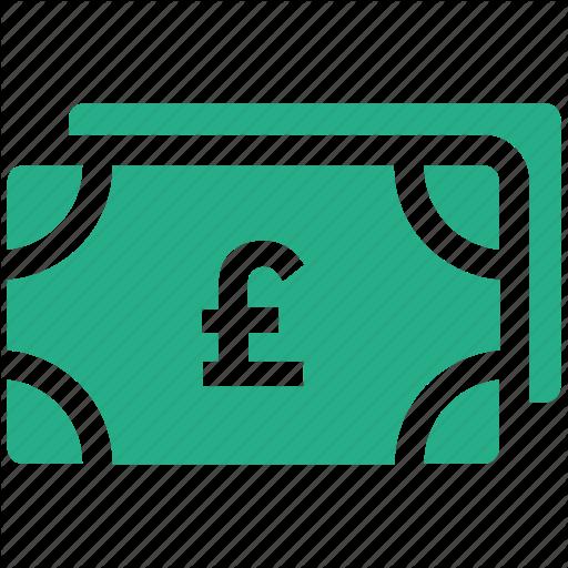 British Pound, Currency, Money, Pound, Pound Note Icon Icon