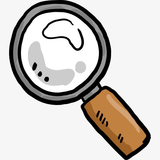 A Magnifying Glass, Magnifier, Cartoon, Tool Png Image And Clipart