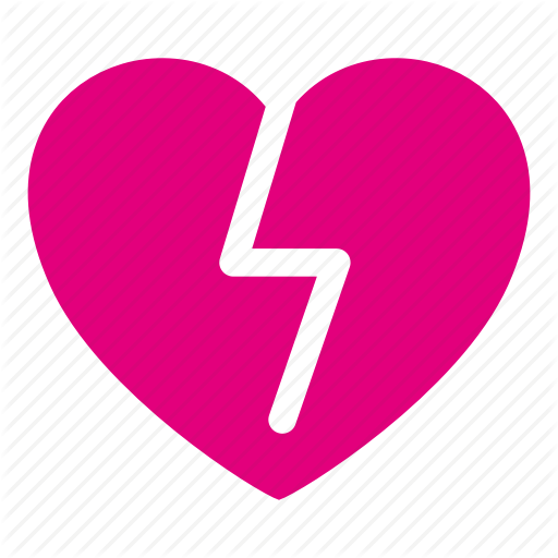 Broken Heart, Heart, Love, Loving, Romantic, Valentines Icon