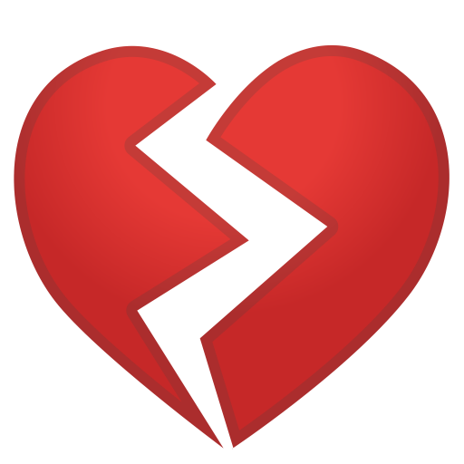 Broken Heart Icon Noto Emoji People Family Love Iconset Google