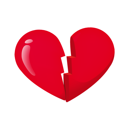 Heart Broken Icon Love Is In The Web Valentine Iconset Succo