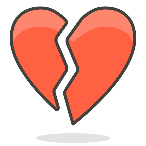 Broken, Heart Icon Free Of Free Vector Emoji