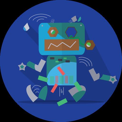 Broken, Android, Mascot Icon