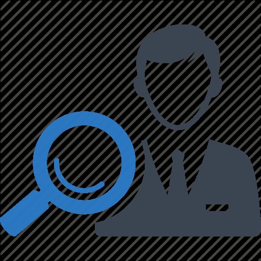 Businessman, Find Broker, Real Estate Agent, Search Icon