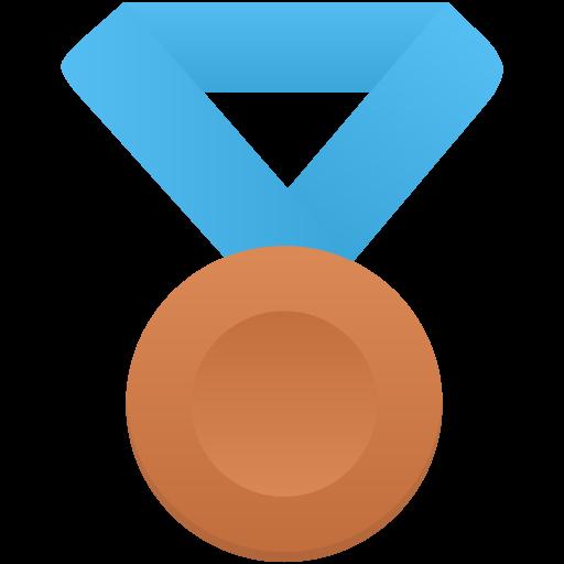 Bronze Metal Blue Icon Flatastic Iconset Custom Icon Design