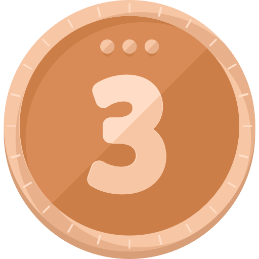 Medal, Prize, Sports, Third, Sports And Competition, Bronze Medal Icon